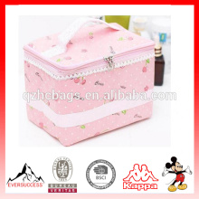 Maquillage sac, mignon série rose sac cosmétique organisateur avec joli motif pour les femmes