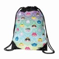 Durable Lightweight Print Drawstring Backpack