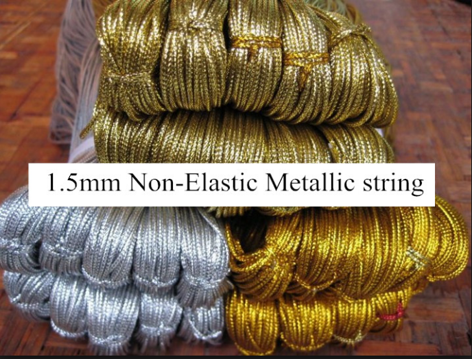 1 5mm Diameter Gold Metallic Cord