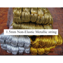 Custom 1mm diameter gold metallic cord wholesale