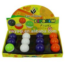 Billige beliebte feuchtigkeitsspendende Ball Lippenbalsam in Tischtennis-Ball