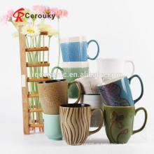 Caneca cerâmica canegas caneca vitrificada da porcelana do grão da cor