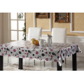 PVC Printed Tablecloth with Double Side Gold or Silver Embossed