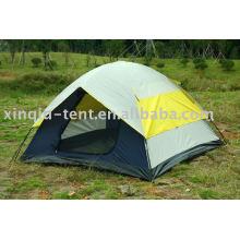 Double layer 3-4 pessoa dome barraca de acampamento
