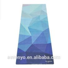 Toalla de la estera de la yoga de la flor del modelo de la impresión del color de la pendiente respetuosa del medio ambiente de la manera fresca YT-008