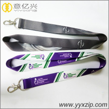 flat personalized double custom sublimation lanyard