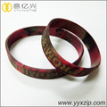 Printed Logo Epoxy Colors Mixed Silicone Bracelet
