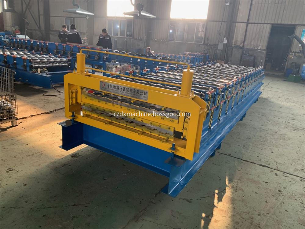 Trapezoidal Roof Double Layer Roll Forming Machine