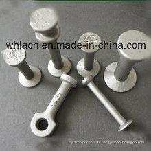 Goujon de levage de béton préfabriqué / ancre sphérique de tête pour soulever le composant concret (1.3T-32T)