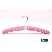 Hermoso estilo espeso rosa satinado percha