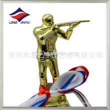 Trophée de tir en plastique personnalisé Le trophée du championnat de tir