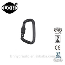 mini s shape carabiner wholesale with double gated carabiner