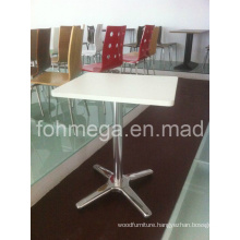Restaurant Furniture White Square Table (FOH-RT69)