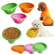 Bols pour animaux de compagnie pliables promotionnels en silicone