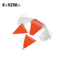 Corde en plastique en nylon durable de drapeau de sécurité de couleur blanche 30Meter de couleur blanche