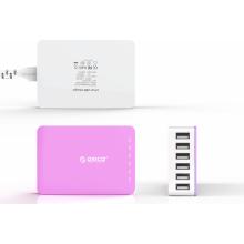2015 Nuevo cargador USB de escritorio colorido de 6 puertos CSA-6U