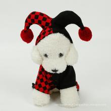 Venda quente trajes do cão do dia das bruxas roupas para animais de estimação traje cosplay terno de palhaço