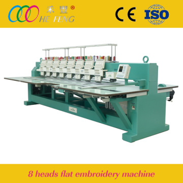 Hefeng 8 Heads Computerized Flat Embroidery Machine
