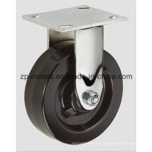 4inch Heavy-Duty Iron Rubber Fixed Caster Wheel