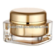 15g 20g 30g 50g 75g 125g square acrylic cream jar cosmetic packaging jars