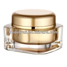 15g 20g 30g 50g 75g 125g quadrado frasco de creme acrílico frascos de embalagem de cosméticos