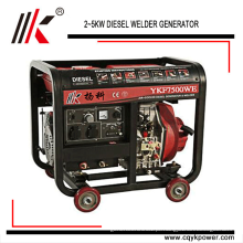 O grupo gerador da soldadura de YKF8500WE 50HZ / 60HZ no central elétrica do gerador diesel com Austrália usou o gerador do soldador