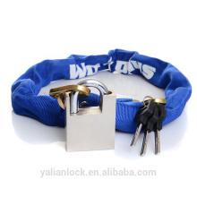Китай Дешевые высокого качества цепи Padlock ткань покрытия синий цвет