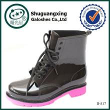botas altas de rodilla de malla para mujeres botas de lluvia de goma B-817