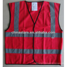 high visibility red safety vest