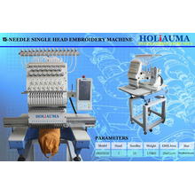 HOLIAUMA China Top System Single Head High Speed Computer Operation Embroidery Machine With 15 Colors