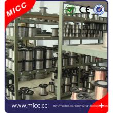 Cable de aleación de calefacción MICC Ni80cr20 alambre de elemento redondo de calefacción