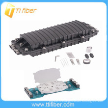 96 core Horizontal/inline type Fiber Optic Splice Closure with two inlets/outlets