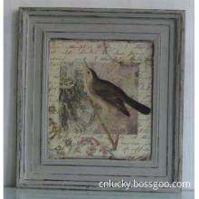 Shabby chic antique wooden photo frame