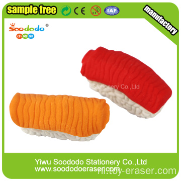 3.6 * 1.1 * 1.6cm 3d Salmon Sushi Shaped Eraser