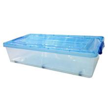 Ropa transparente 30L Caja de almacenamiento de plástico, ecológica, plegable y almacenada