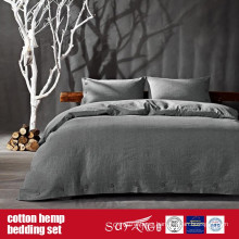 Cotton Hemp Duvet Cover Set for Home Luxury Hotel Use