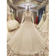 Neue Ankunft 2017 Spitzenverkaufs-Heirat-lange Hülsen-Hochzeits-Kleider