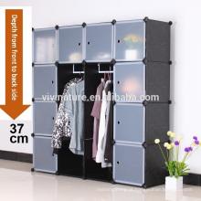 Multi uso DIY armário de armazenamento de guarda-roupa de plástico mobília do quarto de moda, estante, brinquedo, ect para jovens com jovens Entrepre