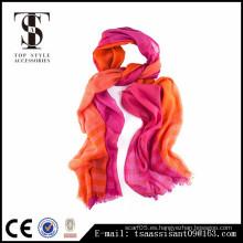 2016 Bufanda de las mujeres de la bufanda del resorte y del otoño estilo anaranjado y rosado de la manera de la bufanda de las lanas