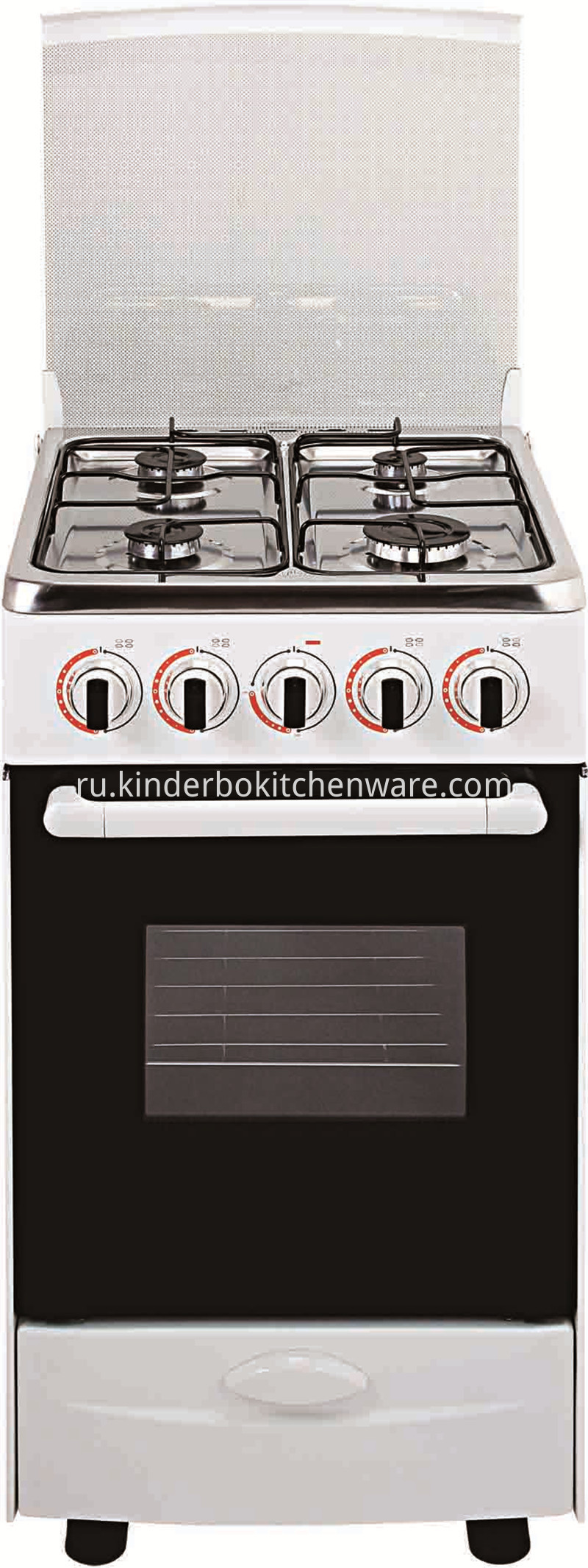 Kitchen Professional 4 Burner Free Standing Gas Stove with Oven