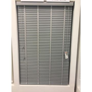 Plain Grey Faux Wood Blinds