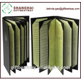 High quality 6 panels food menu in english , pu leather restaurant menu