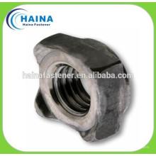 Aço inoxidável 304SS DIN928 Porcas quadradas de solda, porca de solda M4-16