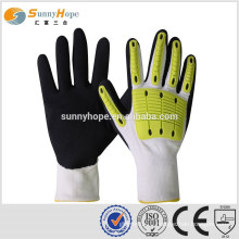 SUNNY HOPE 13gauge Nitrile sandy impact gloves with TPR working gloves