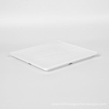 9649 Wholesale Custom Hot sale best quality melamine tableware White Plate Kitchen Plates for Restaurant  009