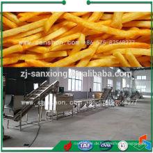 Gefrorene Verarbeitungslinie Pommes Frites Maschine
