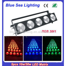 2015 hotsale 5pcs x 10w rgb full color led pixel matrix
