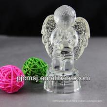 cristal iceberg de anjo de vidro para presente de natal ou decoração de casa