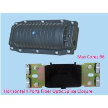 Horizontal 4 Ports 96 Cores Fiber Optical Splice Closure