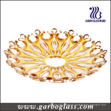 13.6′′ Golden Plating Glass Charger Plate
